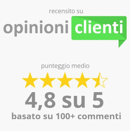 Cvplus.it è recensito su opinioniclienti.it con punteggio medio di 4,8 su 5