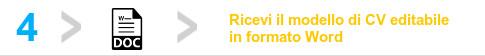 Scrittura Curriculum Vitae e Revisione CV Professionale - Starter Kit - Scarica il modello editabile in word del CV