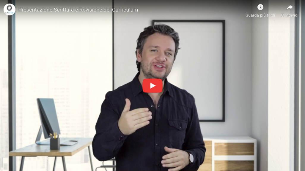 Video presentazione servizio scrittura curriculum CVPLUS