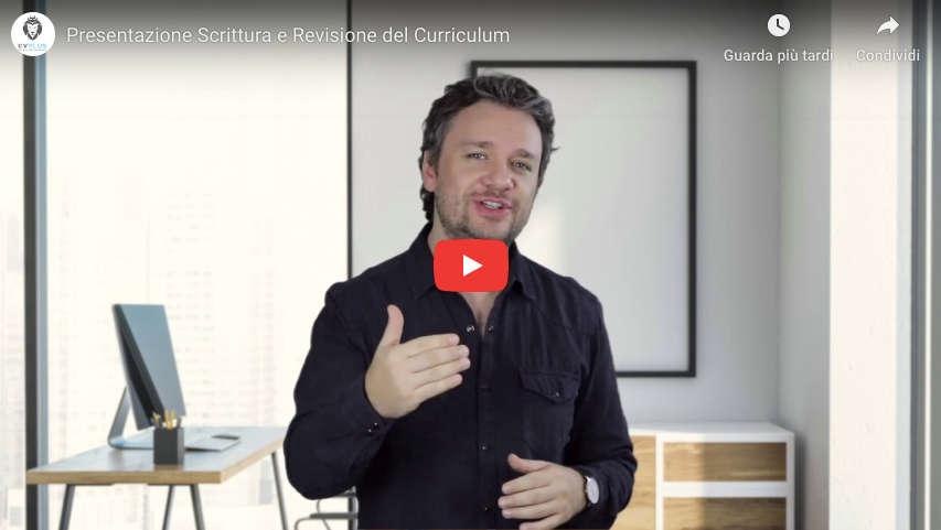 Video presentazione servizi di scrittura del curriculum