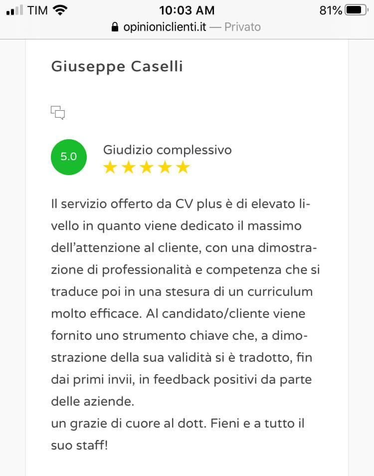 Review scrittura cv 12