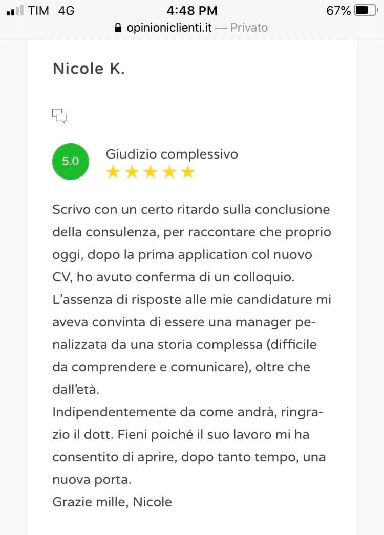 Review scrittura cv 13