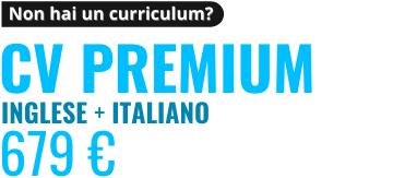 Revisione CV Premium in Italiano e Inglese